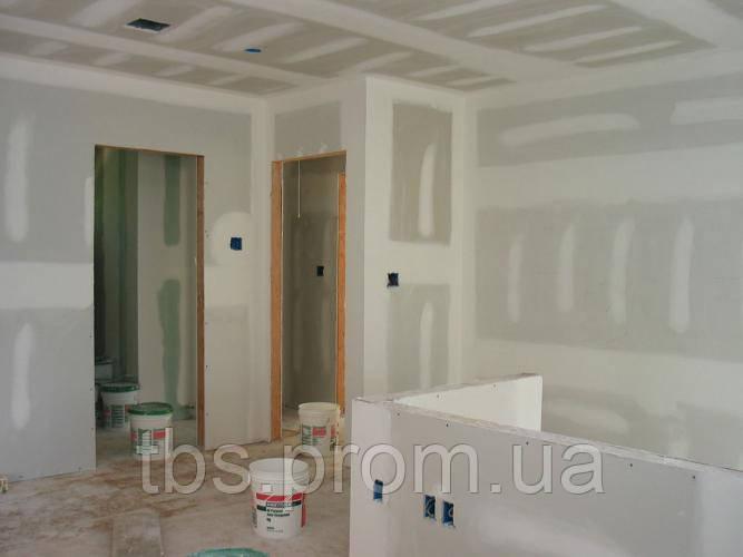 Установка гипсокартона на стену без каркаса - GROUP-TB.COM.UA в Киеве