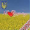 """Магніт """"Я люблю Україну"""" 60х60 мм"""