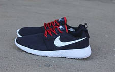 Подростковые кроссовки Nike Roshe Run сетка,синие, фото 2