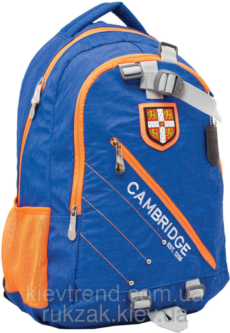Рюкзак подростковый Cambridge (Кембридж) голубой CA058