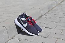 Подростковые кроссовки Nike Roshe Run сетка,синие, фото 3