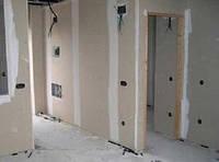 Выравнивание деревянных стен гипсокартоном