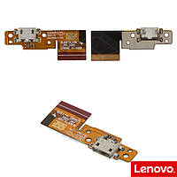 Шлейф для Lenovo B8000 Yoga Tablet 10, коннектора зарядки, с компонентами, оригинал