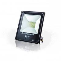 Светодиодный прожектор EVRO LIGHT ES-50-01, 50W, 220V, IP65, Econom, 2750Lm, 6400K белый холодный, фото 1