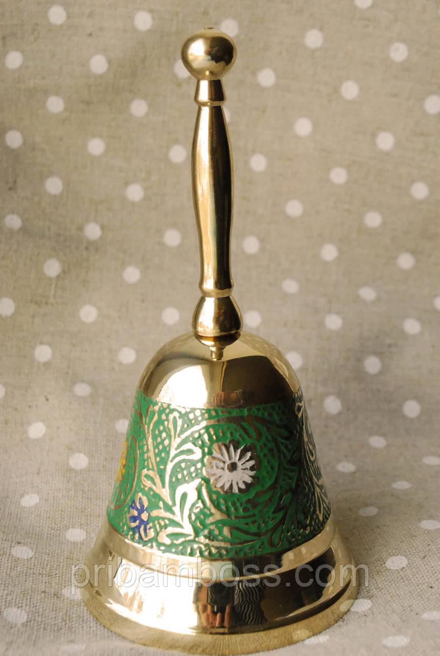 Колокольчик, латунный зеленый