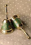 Колокольчик, латунный зеленый, фото 2