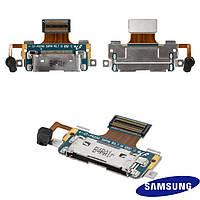 Шлейф для Samsung Tab Plus P6200 / P6201, коннектора зарядки, микрофона, с компонентами, оригинал