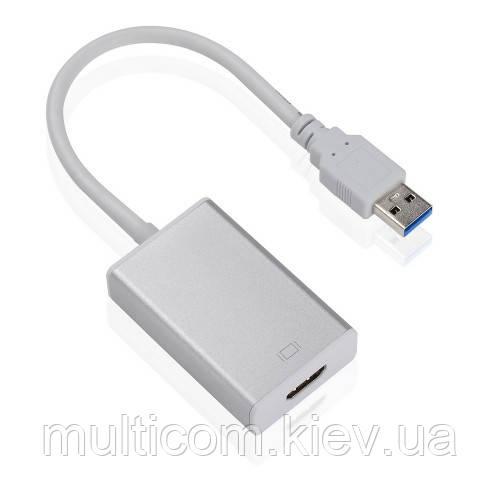 03-02-071. Конвертор USB 3.0 в HDMI (шт.USB (A) 3.0 - гнездо HDMI), с кабелем 15см