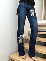 Джинсы женские клеш от колена модные средняя посадка Bigrey jeans р.28-29