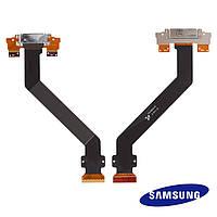 Шлейф для Samsung Galaxy Tab P7300/P7310, коннектора зарядки, с компонентами (оригинальный)
