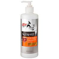 Nutri-Vet Salmon Oil НУТРИ-ВЕТ МАСЛО ДИКОГО ЛОСОСЯ добавка для шерсти собак, жидкая.