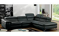 Мягкая кожаная мебель,угловой диван FINO.шкіряний куток хай-тек
