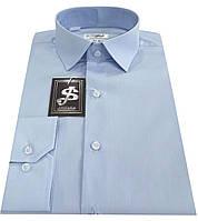 Рубашка мужская классическая голубая №10  500/14-4115