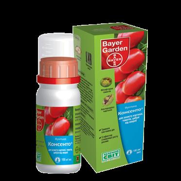 Фунгицид системный Консенто (100 мл) — против заболеваний на томатах, картофеле, луке, фото 2