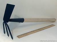 Мотыжка комбинированная 315мм, деревянная ручка
