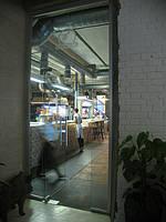 Входные стеклянные двери (маятниковые)