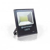 Светодиодный прожектор EVRO LIGHT ES-100-01, 100W, 220V, IP65, Econom, 5500Lm, 6400K белый холодный, фото 1