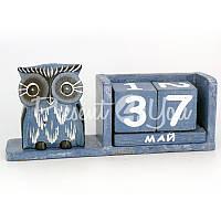 Календарь с совой (рыбкой), 19х5х9 см.