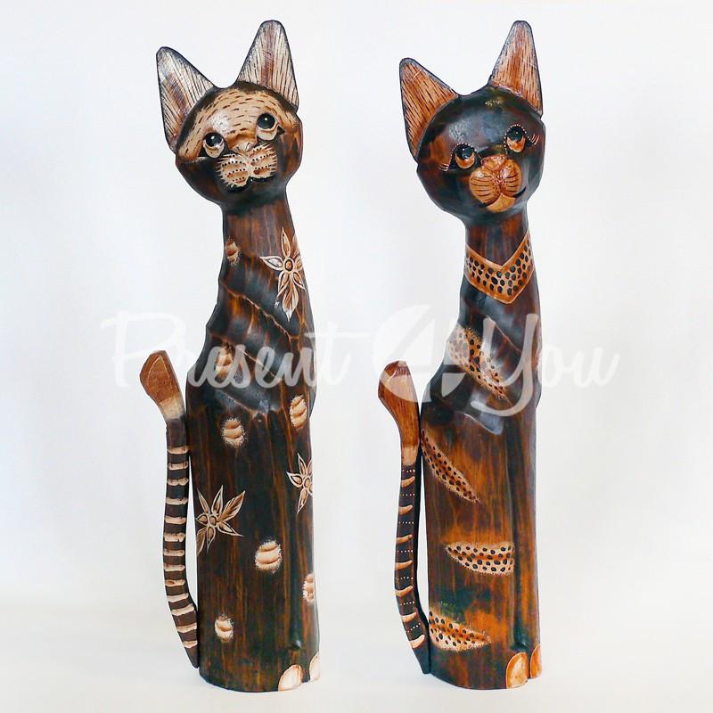 Статуэтка «Кот в цветочек», h-60 см.