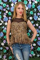 Летняя леопардовая кофточка с баской