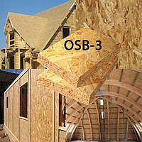 OSB 12*2500*1250мм Крона Украина ОСБ-3 влагостойкая ориентированная стружечная плита