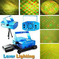 Лазерная, установка, Mini laser, проэктор, светомузыка, мини, лазер, яркая, качественная, интерестная