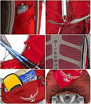 Рюкзак женский OSPREY ARIEL 55 (оранжевый, бирюзовый), фото 3