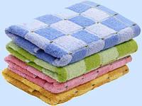 Полотенце махровое цветное 40х70