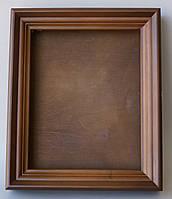 Ровный киот из ольхи с внутренней деревянной рамкой, открывающийся, со стеклом