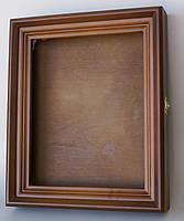 Ровный киот из ольхи с внутренней деревянной рамкой, открывающийся, со стеклом, фото 2