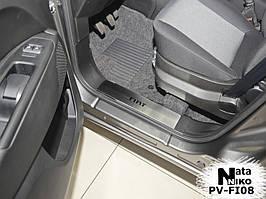 Накладки на внутренние пороги  Fiat 500 2007-