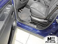 Накладки на внутренние пороги Fiat 500 L 2013-
