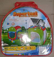 Детская палатка с тоннелем (двойная палатка с тоннелем) Різ9120