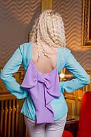 Женская блузка с бантиком сзади