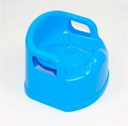 Горшок-стульчик детский с крышкой голубой