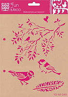 Трафарет самоклеющийся, Птички, 17х21см