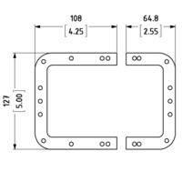 Рамка L0526 установча з двох частин, для врізних замків L911/537z,L925/537z,L935/537z,L944/537z. Сталь.