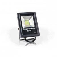 Светодиодный прожектор EVRO LIGHT EV-10-01, 10W, 220V, IP65, Premium, 800Lm, 6400K белый холодный