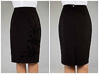 Красивая деловая юбка большого размера, размеры 50, 52, 54, 56