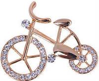 Брошь Велосипед кристалл tb1023