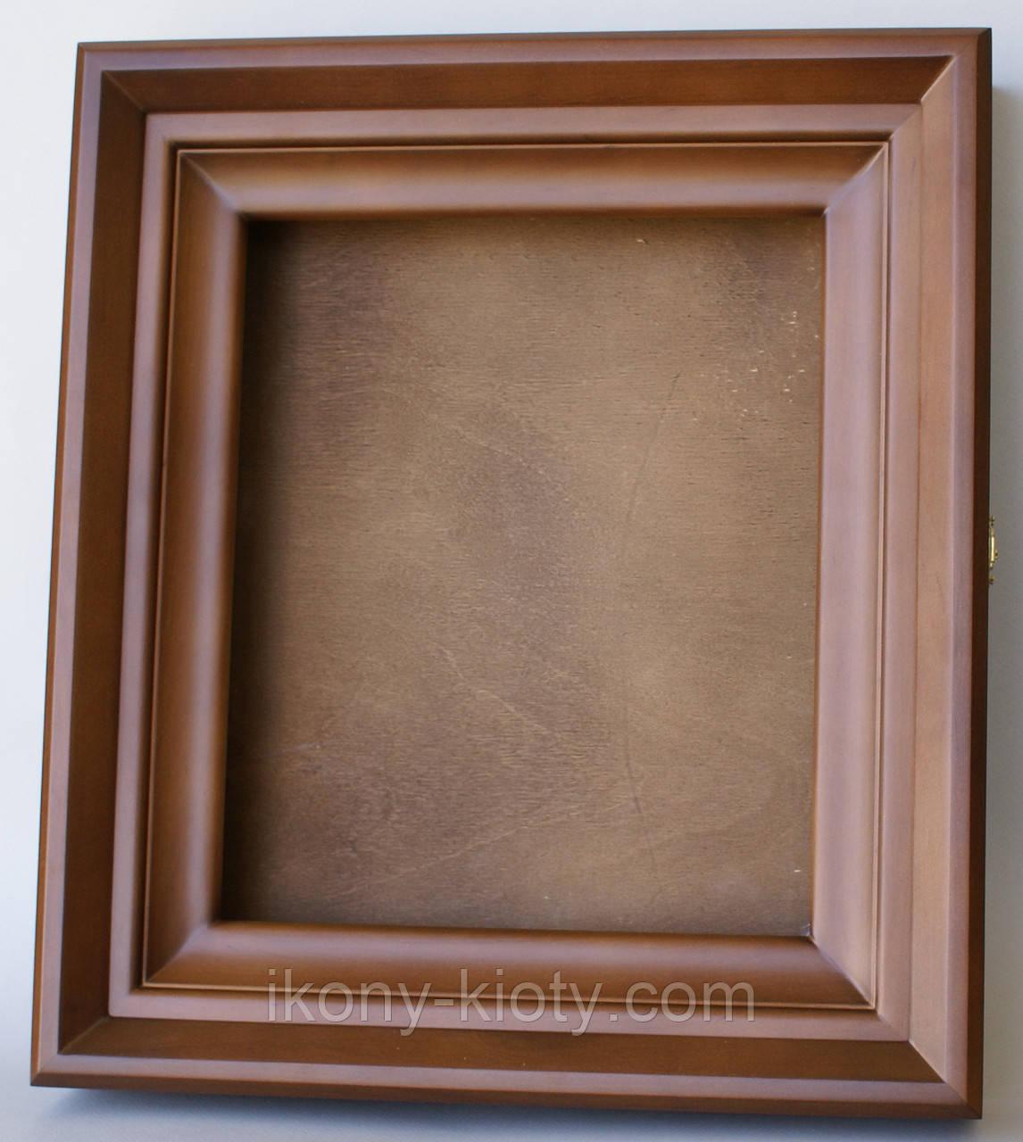 Киот ровный из ольхи с внутренней деревянной рамкой