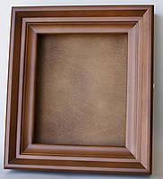 Киот ровный из ольхи с внутренней деревянной рамкой, фото 2