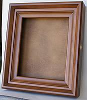 Киот ровный из ольхи с внутренней деревянной рамкой, фото 3