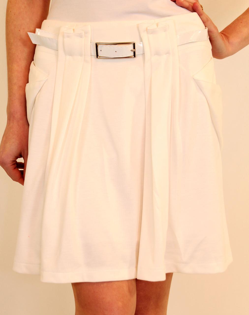 Трикотажная юбка с карманами на подкладе 42-48 ( разные цвета )