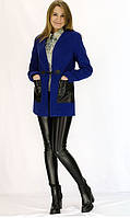Женское полупальто  с накладными карманами