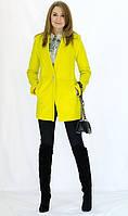 Модное яркое весеенее пальто