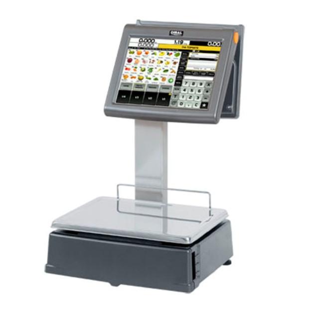 """Весы с печатью этикетки  D-955 с двумя 12"""" TFT экранами"""