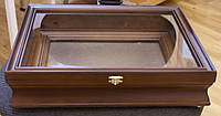 Киот для иконы ровный, из ольхи, с внутренним деревянным багетом.