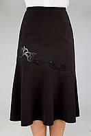 Красивая деловая юбка большого размера, размеры  52, 54, 56, 58