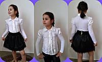 Подростковая блузка с воротничком